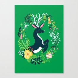 Festive Deer Canvas Print