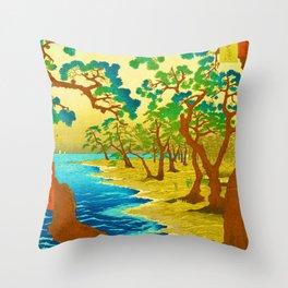 Rubino Asian Japan Forest Throw Pillow