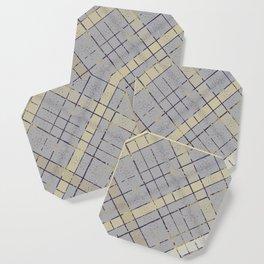 Retro pastel plaid pattern N7 Coaster