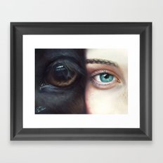 Miss & Horse Framed Art Print
