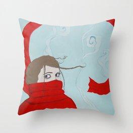 The Scarf Throw Pillow