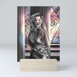 Evageline Samos fan art Mini Art Print