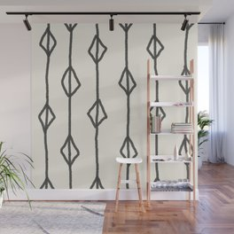 Hand-drawn diamond pattern Wall Mural