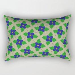 blue flower Rectangular Pillow