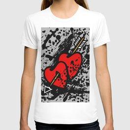 Hearts pierced with an arrow T-shirt