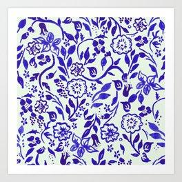 Boho Vine Floral Art Print