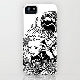 Kabuki Krysanthemums iPhone Case