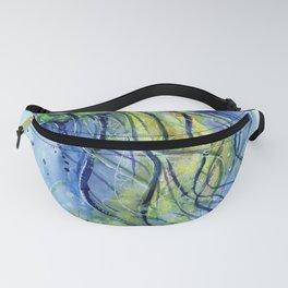 Jellyfish Watercolor Beautiful Sea Creatures Fanny Pack
