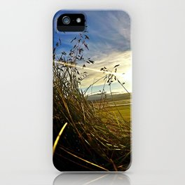 Icelandic Sunset from the Grass Roof of a Turf Farmhouse (1) iPhone Case