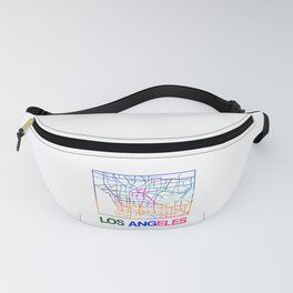 Los Angeles Watercolor Street Map Fanny Pack