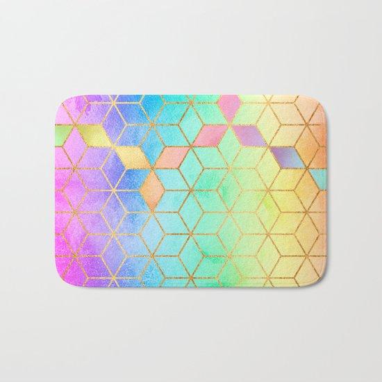 Rainbow Cubes Bath Mat