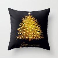 christmas tree Throw Pillows featuring Christmas tree by valzart