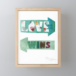 Love Wins Framed Mini Art Print