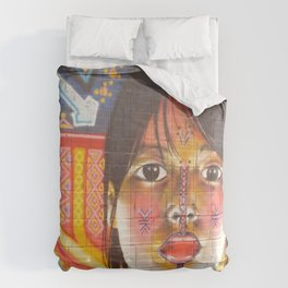 Continental Summit of Indigenous Peoples Mural Comforters