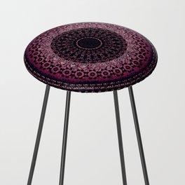 Rosewater Tapestry Mandala Counter Stool