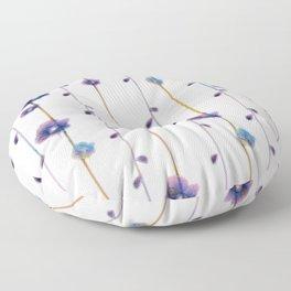 pansies floral minimal pattern Floor Pillow