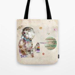 space graffiti Tote Bag