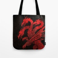 dragons Tote Bags featuring Dragons by Narwen