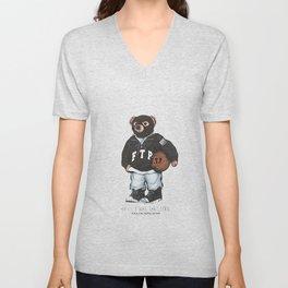 ftp bear Unisex V-Neck