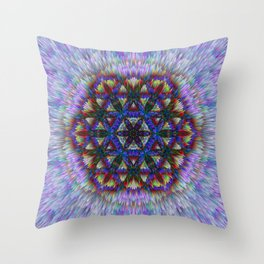 Flower of Life from chalk Throw Pillow