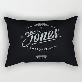 """Jones' Rare Antiquities"" - silver version Rectangular Pillow"
