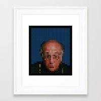 larry david Framed Art Prints featuring Larry David by ochre7