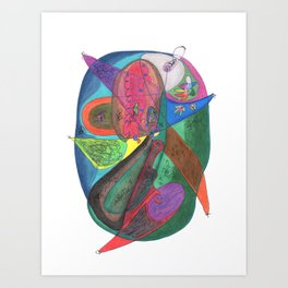 Drawing #63 Art Print