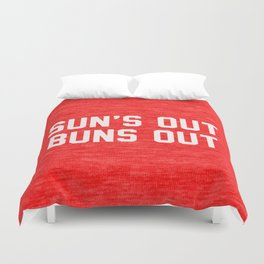 Suns Out Buns Out Duvet Cover