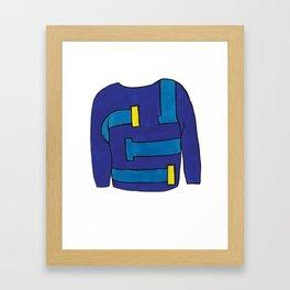 Season 1, Episode 2 (full sweater) Framed Art Print