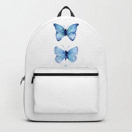Two Blue Butterflies Watercolor Backpack
