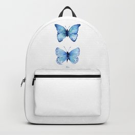 Two Blue Butterflies Watercolor Backpack