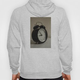 Old table clock about to take nine in the morning Hoody