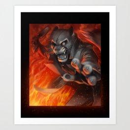 Viktor - Fire-fight Art Print