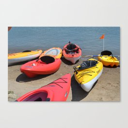 Kayaks - M Canvas Print
