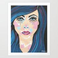 indigo Art Prints featuring Indigo by Sartoris ART