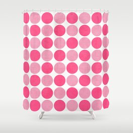 the pink dots Shower Curtain