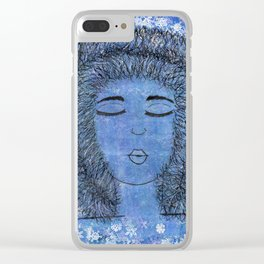 Girl In The Hood Clear iPhone Case