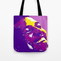 lakers Tote Bags featuring Swaggy by SUNNY Design