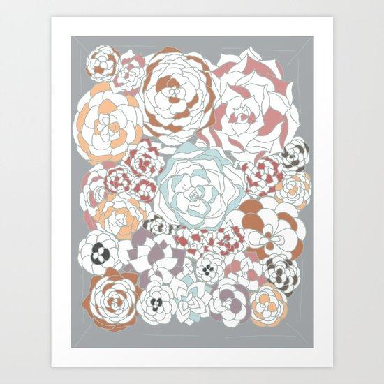 House Leeks  Art Print