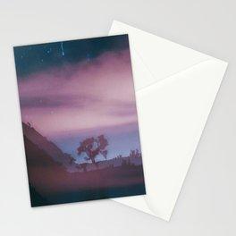 dreamy Joshua Tree at night Stationery Cards