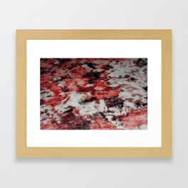 The Faces in the Ruby Red Snow Framed Art Print