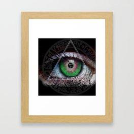 All eye See Framed Art Print