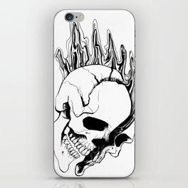 Skull #8 (Spill) iPhone Skin