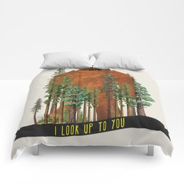 I Look up to You (Bigfoot in the Forest) Comforters