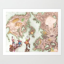 Map of Mutha Oith Art Print
