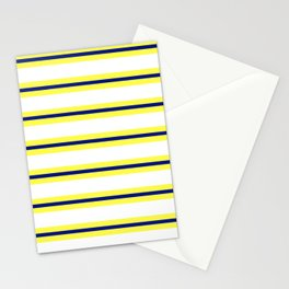 Nautical Yellow, White and Navy, Crisp and Clean Lines Stationery Cards