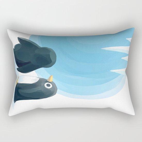 Penguin Playground Rectangular Pillow