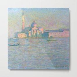 """Claude Monet """"The Church of San Giorgio Maggiore, Venice"""" Metal Print"""