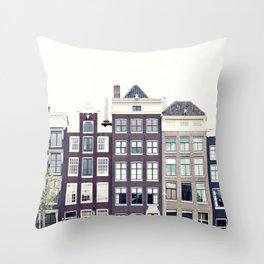 Amsterdam House Throw Pillow