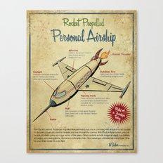 Retro Futuristic, Steampunk Airship Canvas Print